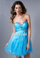 Reference Images Sweetheart Tulle Charming Sexy Cheap Short Mini Aqua Tulle Sweetheart Sleeveless Crystal New Style Cocktail Dress Occasion Dresses Party E472