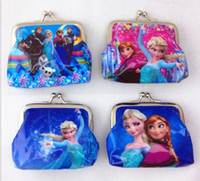 Wholesale In Stock Frozen Children Purse Mama Baby Coin Bags Kids Ice Snow Coin Purse Random Style Free Shiping GX693