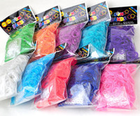 Wholesale Quality Guarantee Non Toxic No Smell Healthy Bags Rainbow loom Kit DIY Wrist Rubber Bands for Bracelets Band Clips RM0