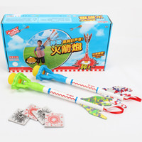 Cheap Magic rocket gun box gift eco-friendly child gun model toy