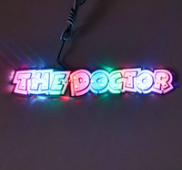 Wholesale 1 piece colors small size Led Sticker the doctors For Motorcycle BIKE CAR UNIT SCOOTER FUNNY DECALS STICKERS WITH LIGHT