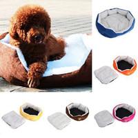 Wholesale 5 colors available cotton cat dog kennel pet house warm sponge bed cushion basket L S Size