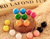 Wholesale Korean small jewelry special auricular Value spike cute candy balls earrings earrings