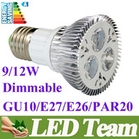 Wholesale 30 Discount CREE Diammable Par20 Led Lamp W W E27 GU10 E26 AC85 V Led Spot Light Spotlight led bulb Par20 LED Light Lighting Angle