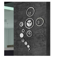 Digital 60 cm Living Room Factory Supply Mirror Effect Ring wall Clock Modern Design Wall Decor Wall Decoration Home Decor 30pcs lot