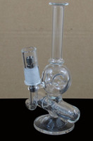 Wholesale 2014 New two function quot height glass inline bubbler water smoking pipe water WJC MINI