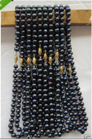 Beaded Necklaces wholesale akoya pearls - HOT Akoya AAA mm black pearl necklace quot k