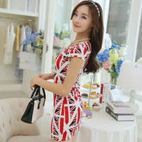 Wholesale Summer hot new women s tee Union Jack dress