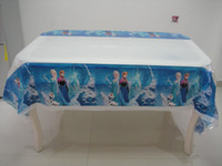 Wholesale frozen Anna Elsa PE rectangle printing tablecloth birthday party festival