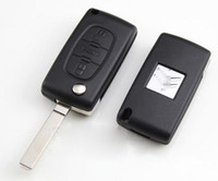 Wholesale KL81 Buttons FOB Blank FLIP Remote Key Case For PEUGEOT Citroen BLADE WITHOUT LINE