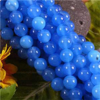 Wholesale Fashion jewelry mm Blue South American Topaz Round Loose Beads FR123