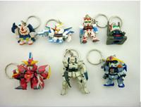 Multicolor gundam - 2014 New Christmas Gift GUNDAM New Mini Key chains Capsule toys Cartoon Anime Children s gift baby toys