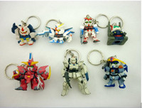 Wholesale GUNDAM New Mini Key chains Capsule toys Cartoon Anime Children s gift
