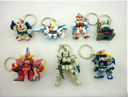 Wholesale 2014 New Christmas Gift GUNDAM New Mini Key chains Capsule toys Cartoon Anime Children s gift baby toys