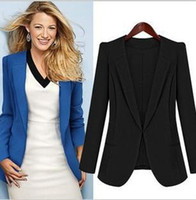 Women Dress Suit Polyester New 2013 black blue blazer woman large size clothing business suits for women spring jacket XZ001