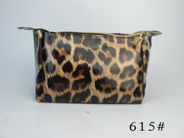 Wholesale NEW Beautiful Leopard Makeup Cosmetic Container Pouch Handbag Holder Bag mix style