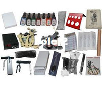 Beginner Kit   USA Dispatch_NEW Professional Machines Tattoo KIT 2 Machine GUN Equipment INK GUN SET US0037