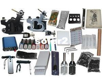 Beginner Kit   USA Dispatch_NEW Professional Machines Tattoo KIT 2 Machine GUN Equipment INK GUN SET US0006