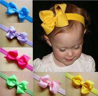 Wholesale 20pcs baby hiar bows hair clips Baby Girl pin wheel ribbon Bow Baby Boutique bows Hair band girl hair accessories