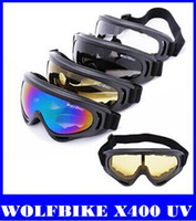 Wholesale WOLFBIKE X400 UV Protection Outdoor Sports Ski Snowboard Skate Goggles Motorcycle Off Road Cycling Goggle Glasses Eyewear Lens top sale new