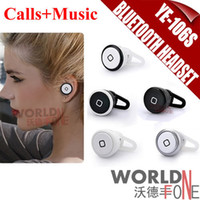 Cheap FS! YE-106S Min Bluetooth Headset Calls + Music Function Mini HD Wireless Universal Earphone For Iphone Mobile Phone (WF-MH03)