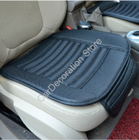 bamboo charcoal mat - New Single Auto Car Bamboo Charcoal Leather Front Seat Cover Cushion Pad Mat