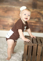 baby ruffle onesie - Hot Sale Kid Clothes Football Ruffle Bodysuit Cotton Baby Romper Onesie Thanksgiving Baby Outfit