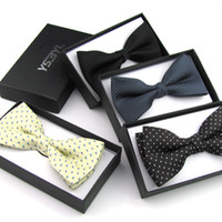 Wholesale New Men s Bow Tie Butterfly Ties For Men Tuxedo Bowtie Boys Bow Tie Fashion Solid Color BowTies Adjustable Colors