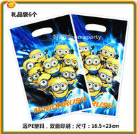 party   New arrival 12pcs lot children's birthday party decoration favors Despicable Me gift bag Despicable Me party supplies
