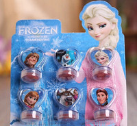 Wholesale Frozen Anna Elsa Stamper Set Cartoon Character Princess Stamp New Novelty Toy Gifts