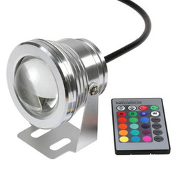 New 10W Underwater RGB Light LED Remote Control Spot Light Lamp waterproof