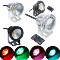 Wholesale 6pcs W Underwater RGB LED Flood Wash Pool Waterproof Light Spot Lamp V Outdoor