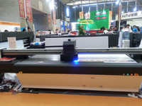CMYK+W flatbed printer - 2 m m Large High Resolution UV Flatbed Printer with Heads