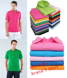 Wholesale New men s brand t shirts for men polo shirts vintage sports jerseys tennis undershirts casual shirts blusas shirt