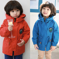 Coat Unisex Spring / Autumn whlosale-2014 Korean children's clothing for fall children coat with cute puppy,Windproof clothes,children's jacket