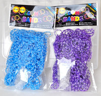 Wholesale 500pcs Bands Clips Mini Hook TIE DYE Rainbow Loom Bands Children s Gifts Make Loom Bracelet