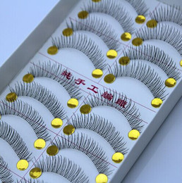 Wholesale Pair Transparent amp Natural Long False Eyelashes Eyelash Eye Lashes Voluminous Makeup Plastic