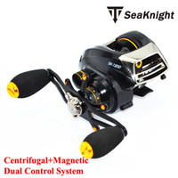 Yes Lure Reel Bait Casting SeaKnight Brand SK1200 Dual Control System Baitcasting fishing reel 14 ball bearings 215g carp fishing gear Right Hand reel