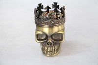 Wholesale New Metal Tobacco Herb Grinder Pocket Smoke Cracker Grinder Skulls Layers Smoke Machine Accessories Detectors Pope Smoke Pipe