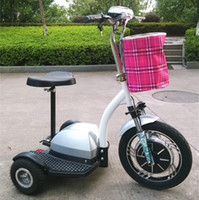 Road Bikes Alloy 16 Inch 2014 Upgraded 3 Wheels Electric Tricycle scooter Mobility Bike motorcycle Motorbike 500w brushless motor Green personal transporter