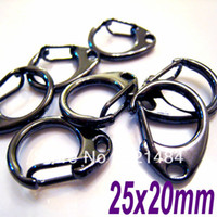 Clasps & Hooks Jewelry Findings Metal 200pcs LARGE Gun Metal Black D Swivel lobster claw clasps keychain findings connector 25x20mm Jewelry Accessories