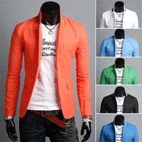 Wholesale 2015 Fashion New Blazers Men Brand Quality Slim Casual Suits Men Spring Autumn Outerwear Dress Suit Color Drop MJC301