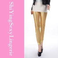 Leggings Skinny,Slim Women Punk Fish Scale Pierced Holes Fashion Leggings+ Cheap Price Drop Shipping Free Shipping LC79312