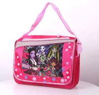 Hangbags big high school - Big Discount Monster high zombie girl children s school bags Kid handbag F0114