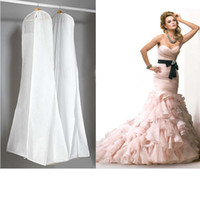 Wholesale Foldable White Bridal Wedding Dress Prom Gown Garment Cover Storage Bag cm quot Home Storage Accessories