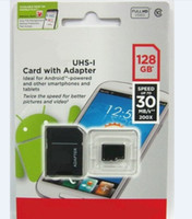 Wholesale 128GB C10 UHS I Micro SD TF Memory Card Free SD Adapter Retail Blister Package microSD SDHC Card for DV free dropshipping OEM brand accept