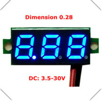 Digital Only dc voltage panel meter - New quot Super Mini Digital Blue LED Display Voltmeter DC V Volt Voltage Panel Meter battery monitor B0005