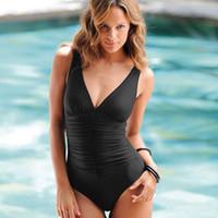 Além de roupas de banho de moda de tamanho Preços-Moda 2014 One Piece Ternos de banho para Mulheres Swim Sexy Swimsuits Conservative Swimswear Modest mais tamanho L-4XL Frete Grátis