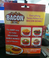 Wholesale 100 Sets New Perfect Bacon Bowl Cooks To Perfection In The Oven Toaster Microwave Everything Taste Better In a Bacon Bowl