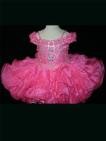 Wholesale 2014 Hot Fashion Off Shoulder Crystal Girl s Pageant Dresses Purple Formal Mini Short Skirt Baby Infant Little Kids Ball Gowns Cupcakes